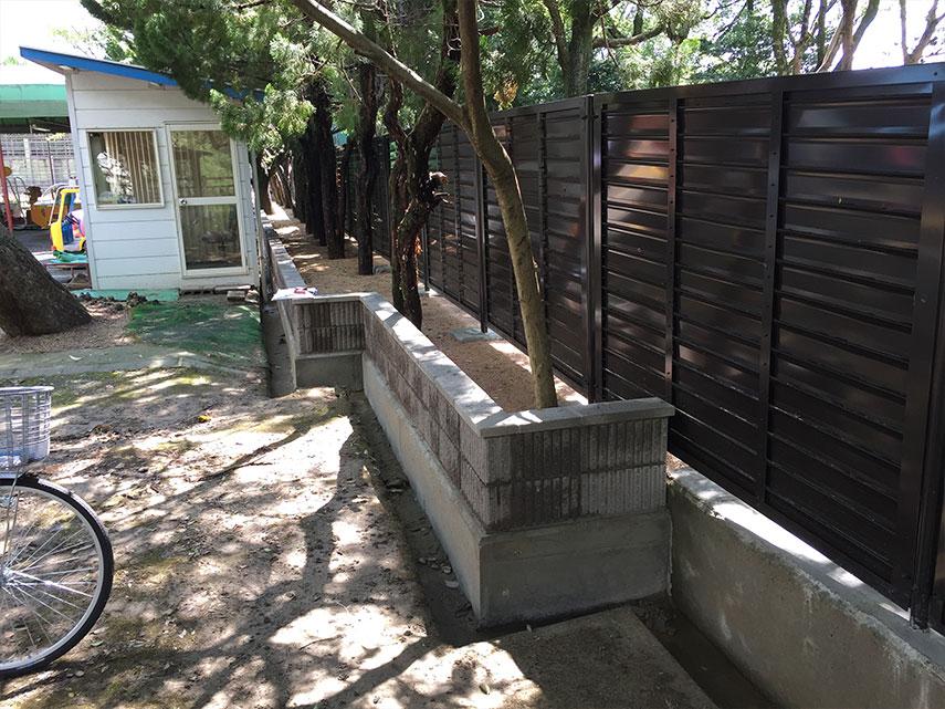 姫路動物園めかくフェンス工事2